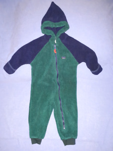 Toddler LL Bean Fleece 1pc CarSeat Safe Suit Size 2T