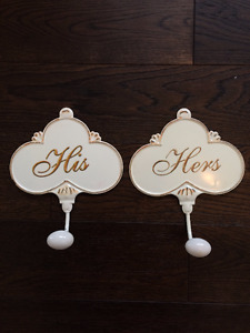 His & Hers Towel Hook