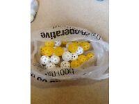 Bag of golf air balls