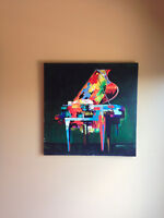 Gorgeous canvas artwork entitled Piano Colorature by P. Robert