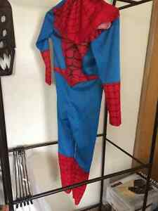 Child's spiderman costume, with hoody mask