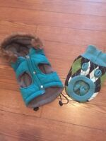 Dog sweater and dog coat / parka for sale