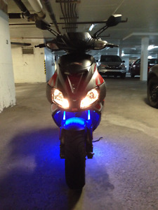 Low-Mileage 2010 Aprilia SR50R for Sale w/ Leo Vince Exhaust