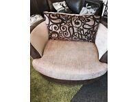 Sofa + swivel cuddle chair + lounge chair £349