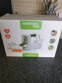 Brand new vegetable spiralizer and cutter