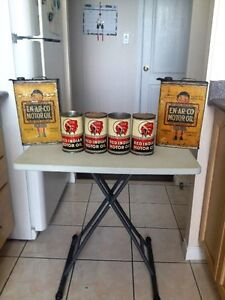 VERY RARE ORIGINAL RED INDIAN & EN-AR-CO OIL CANS