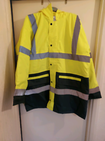 New Mens Hi Viz Coat size XL