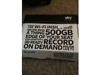 Sky+ HD box wifi 500gb 3D ready