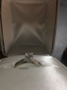 10k White Gold 0.28CT Diamond Engagement Ring