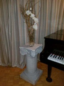 Two Custom Cast Plaster Ionic Columns/Pedestals or Table Base