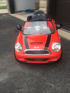 Red Mini Cooper - Battery Operated