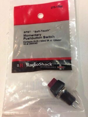 Spst Soft-touch Momentary Pushbutton Switch 275-1566 By Radioshack
