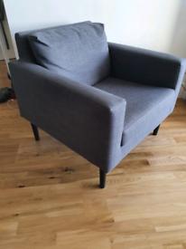 Ikea Friheten grey armchair
