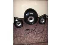 Acme subwoofer and speakers