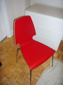 2x Red/chrome-plated brand new VILMAR chair by IKEA, only £10 each
