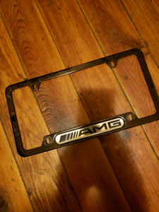 AMG license plate cover