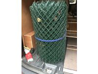 Green Chain link Fencing