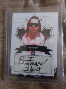 IN THE GAME WWE BRET HART WWF AUTOGRAPH WRESTLING CARD