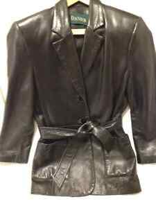 Ladies Classic Style Black Danier Leather Jacket