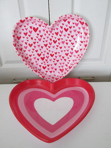 3 plats en forme de coeur