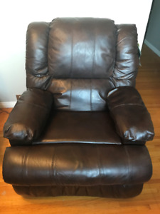Power Reclining Genuine Leather Chair