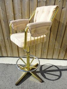 FOR SALE - Qty. 4 Custom Bar Swivel Chairs (Made In Canada)