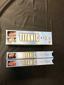 Titanic! Two VHS video box set! Winner of 11 Academy Awards!