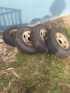Studded Winter tires 16inch 8x6.5 Dodge Ford Chevy