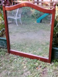 Solid timber large mirror Wardell Ballina Area Preview