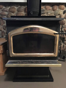 Napoleon Wood Stove, inside chimney and accessories.