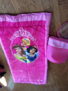 Princess Sleeping bag with case