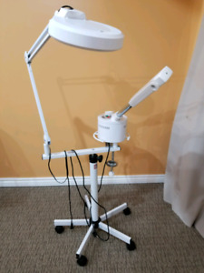 Facial steamer with magnifying lamp for sale