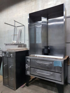 Bakers Pride 151 Natural Gas Pizza Oven Duble Deck 48,000 BTU