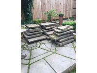 Reclaimed Yorkstone Flags paving