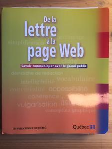 De la lettre à la page Web
