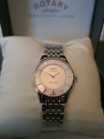 Brand new, authentic Rotary Ultra slim Swiss made Ladies Wristwatch