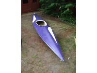 Canoe, single seat, fiberglass