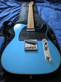 Fender Vintera 50s Road Worn Telecaster Lake Placid Blue.