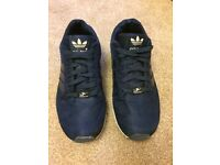 Adidas torsion blue trainers 7