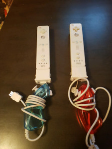 Wii motes with motion plus and nunchuks