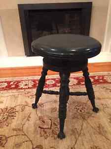 Antique Piano Stool - Charles Parker Co. Meriden CT