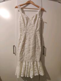 White Lace dress size 6