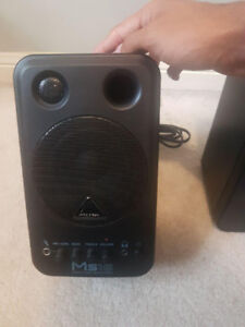 Behringer Monitor Speakers MS16 (10/10 condition) ( 2 speakers)