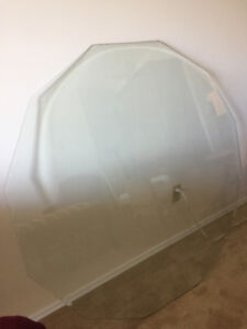 Glass Table Top - Heavy Beveled Clear Glass - Octagon Shape