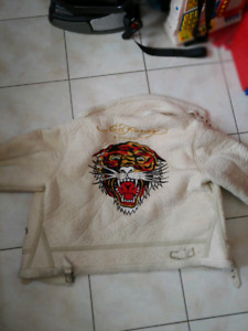 Vintage rare Ed Hardy winter jacket and winter hat