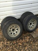 Boat trailer rims and tires