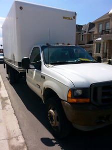 SELLING DIESEL FORD F550 TAILGATE GOOD WORKING DOCK LEVEL TRUCK