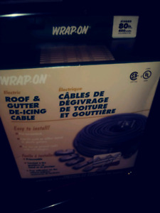 Wrap-on Roof & Gutter De-Icing Cable 80 Ft.