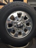 """18"""" polished 8 bolt gmc wheels and tires"""