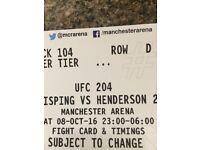 UFC 204Ticket